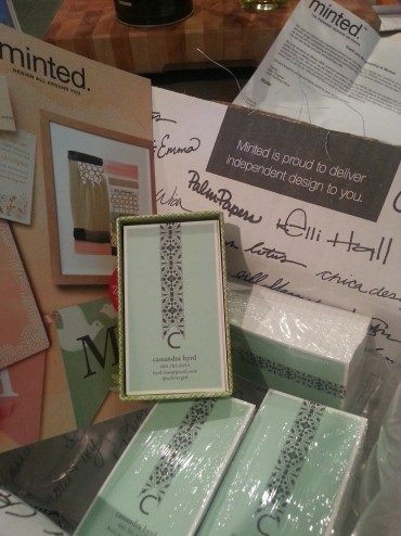 My pretty package from Minted.com!